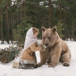 Good Russian neighborly relations in winter